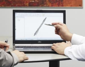 Analyse einer 3D-Vorlage auf einem Computer
