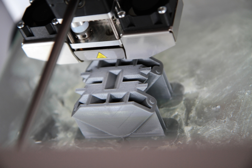 Aufnahme eines 3D-Objekts unter einem 3D-Druckkopf